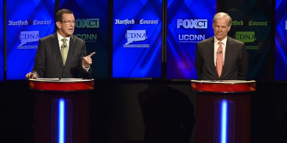 Democratic Gubernatorial Candidate Dannel P. Malloy and Republican Gubernatorial Candidate Tom Foley