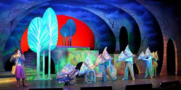 Set of The Hartt School's performance of 'The Magic Flute""
