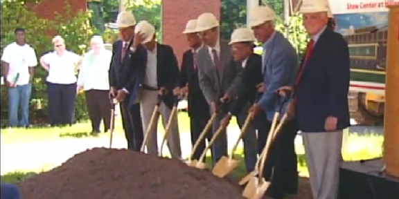 Members of the University Community Breaking Ground on the Hillyer Shaw Center Monday June 6, 2011