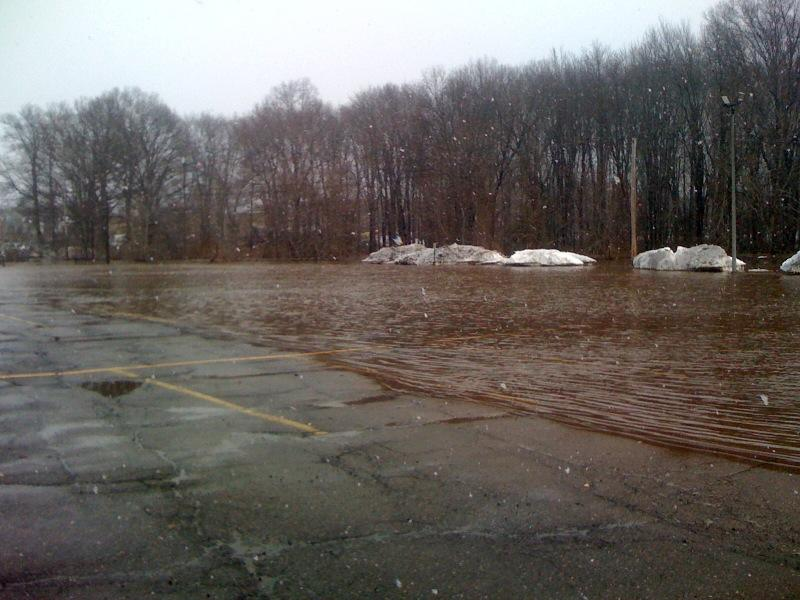 More than half of D-Lot under water