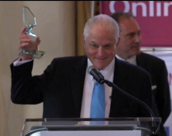 President Walter Harrison receives the Lifetime Achievement Award