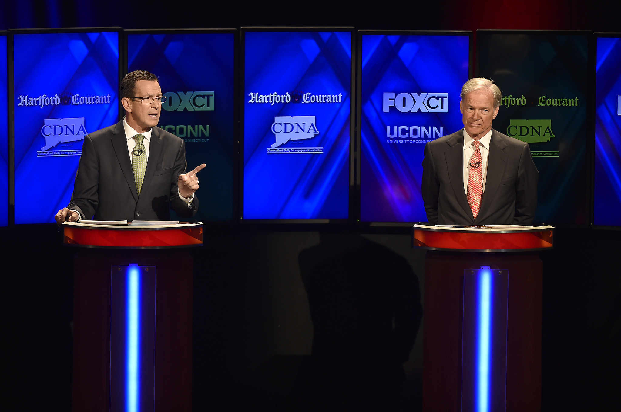 Malloy and Foley get mean in UConn debate