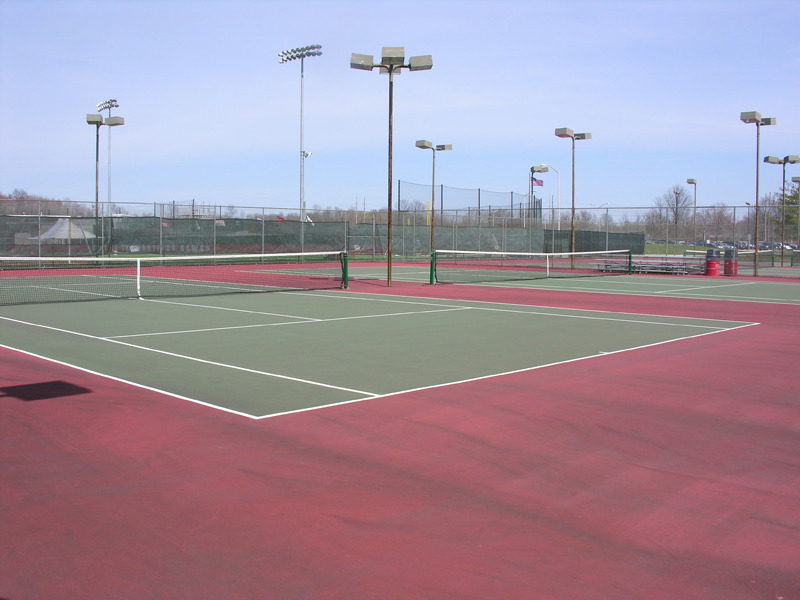The tennis courts located to the rear of the University Sports Center and adjacent to Al-Marzook Field at Alumni Stadium will no longer house Division I tennis teams at the University of Hartford.