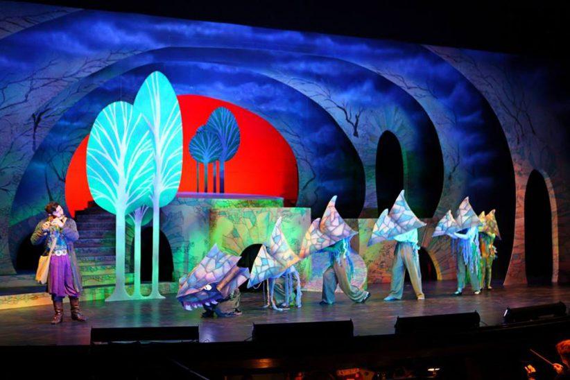 "Set of The Hartt School's performance of 'The Magic Flute"""