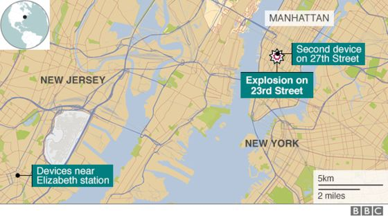 NJ, NY Bombing Incidents