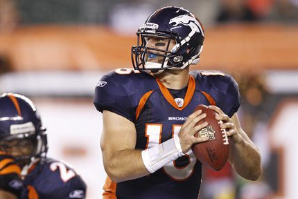 Tim Tebow- STARTING Quarterback for the Denver Broncos