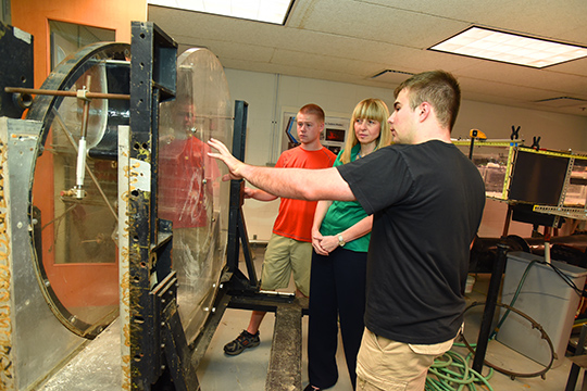 CETA Students build Wind Tunnel