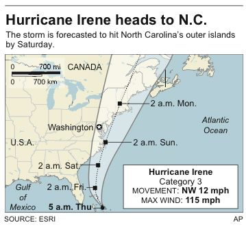 Hurrican Irene: full update on university's status