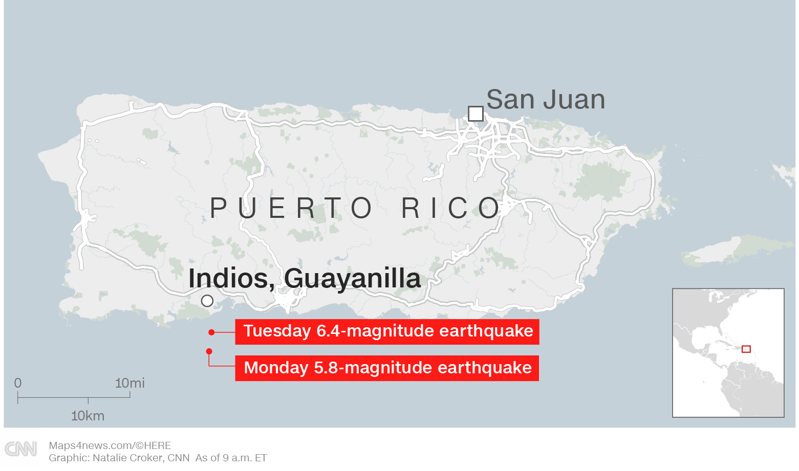Earthquakes Shake Puerto Rico