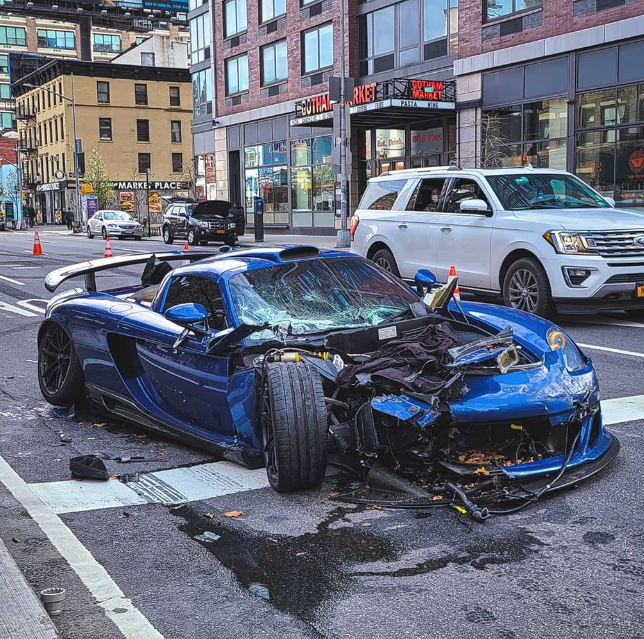 Extremely Rare Gemballa Mirage GT Crash in New York City