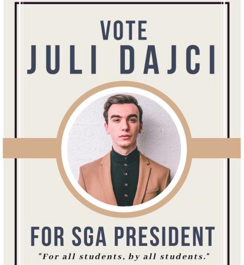 Juli Dajci wins SGA President