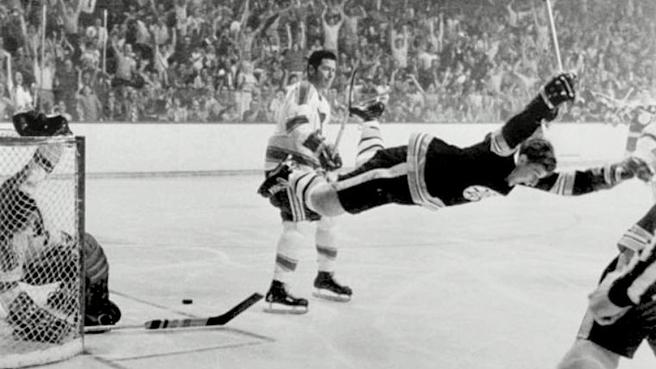Bobby Orr Scores Winning OT Goal and the Bruins Win the Cup